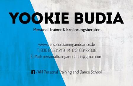 Bild Visitenkarte Yookie, Personal Training, AM Personal Training and Dance