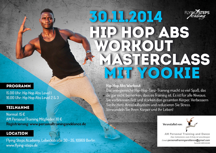 Hip Hop ABS Workout Masterclass mit Yookie